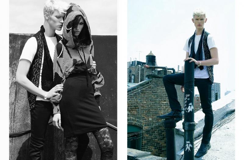 Female and Male model photo shoot of Taschka Turnquist, Kara Kara Kara and Matthew Reuter in New York