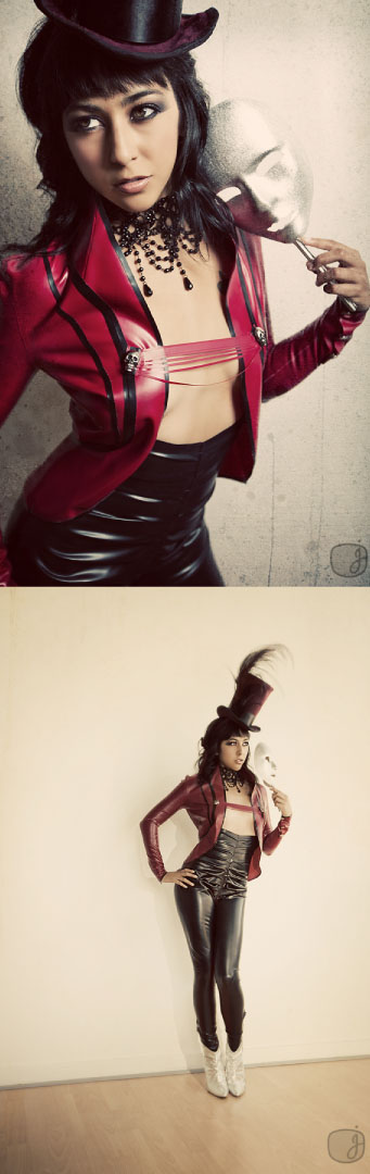 Sep 23, 2009 Jessica Watson Photography Ring Master: Maroon jacket and black gathered front skiny pants