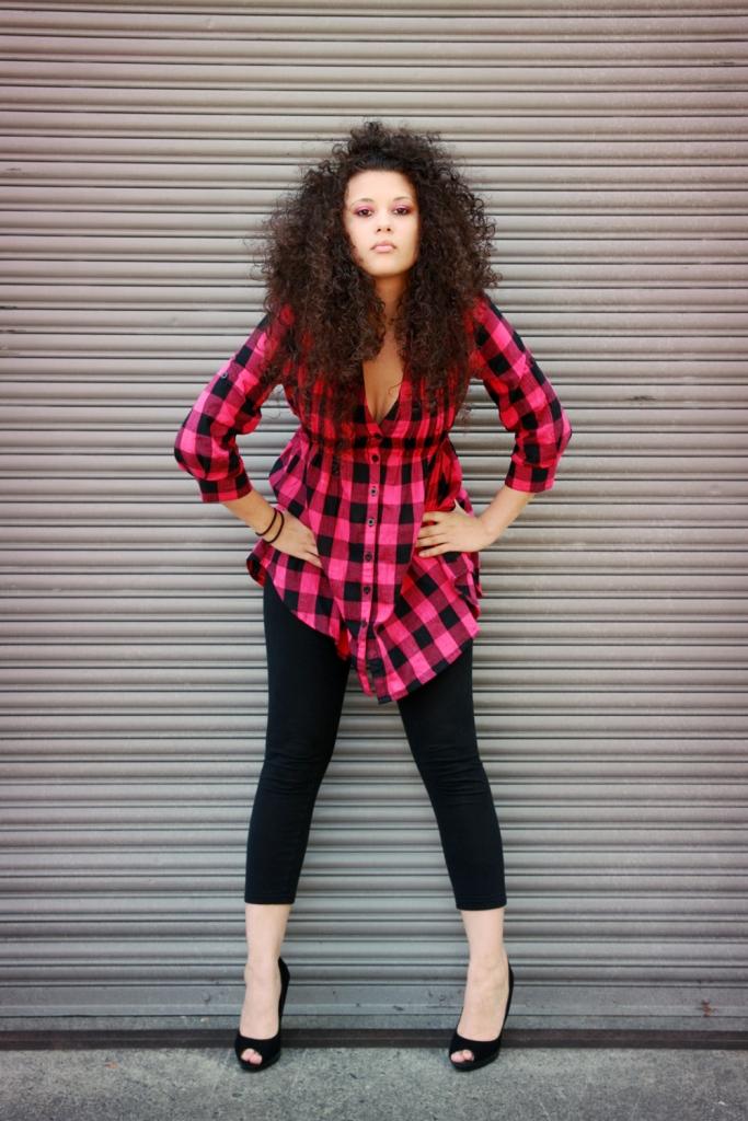 Female model photo shoot of Jasmine Carey by FlashBangBoom in NE Portland, hair styled by Ruby R