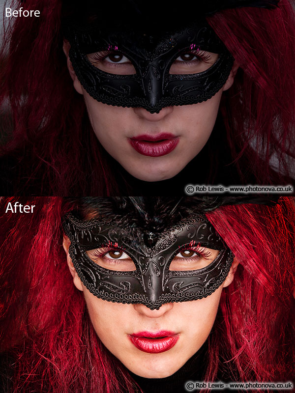 Chester Sep 25, 2009 Rob Lewis Glamour retouch - Colour, tone, blemishes, hair enhancement, hair removal, hair reconstruction, skin enhancement, make-up correction, eyes & lips enhancements, lips enhancement, dust & glitter removal from mask