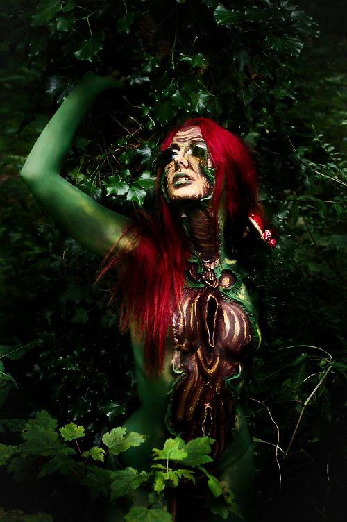 Welsh body painting festival Sep 25, 2009 ryo - kayleigh Goddess of the Forest