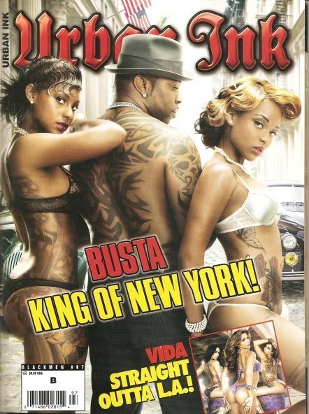 New York Sep 27, 2009 Urban Ink Mag New Cover of Urban Ink with me Busta Rhymes and Brooke