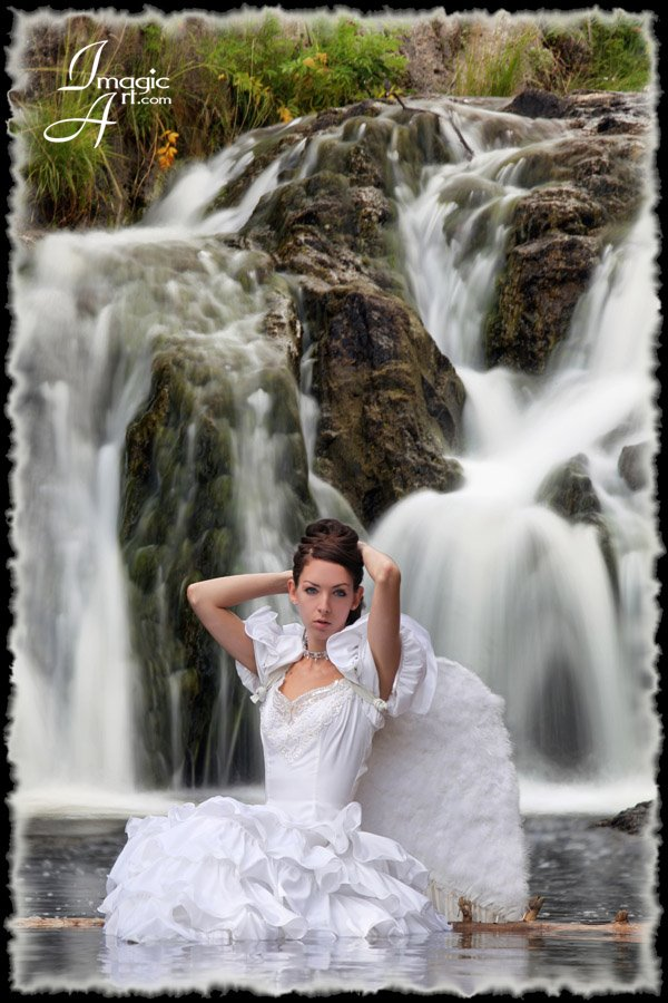 Jemez, NM Sep 28, 2009 © 2009 ImagicArt.com Bridal Fashion at the Falls