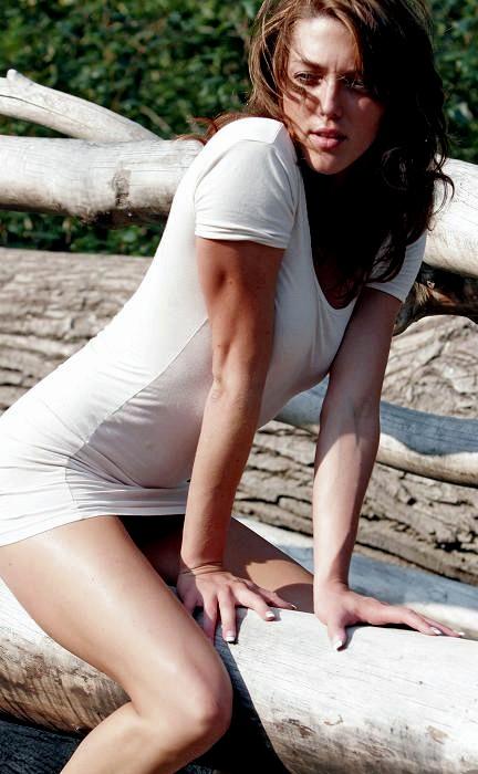 Female model photo shoot of Miki Angeline in Snoqulamie River, WA