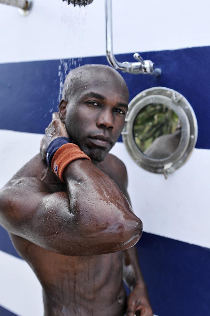 Male model photo shoot of James Wani in Miami