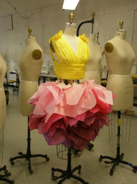 Massachusetts College of Arts and Design Oct 02, 2009 (N/A) paper dress