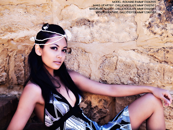 Female model photo shoot of Roxanne B by sallydexter in South Perth, makeup by chillichocolate