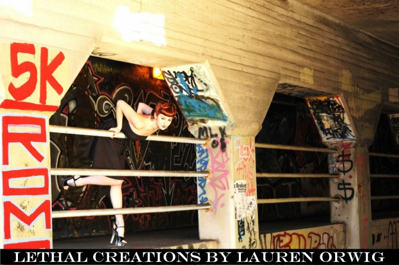 Female model photo shoot of LETHAL CREATIONS
