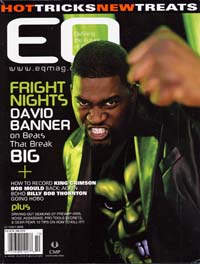Los Angeles  Oct 09, 2009 West Coast Leather International 2006, E Q Magazine  First issue , David Banner in black 3 button leather blazer