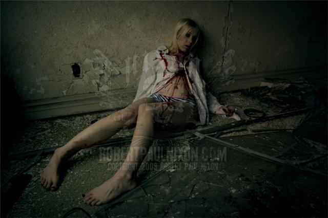 Female model photo shoot of Morbid Candi by Death By Design in Downtown Detroit