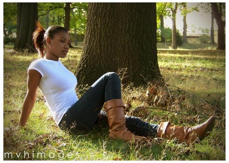 Female model photo shoot of SHONTE P by M V H I M A G E S