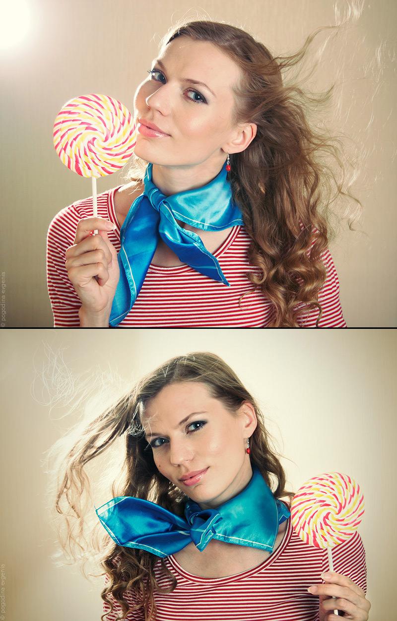 russia Oct 12, 2009 pogodinaea portrait with caramel