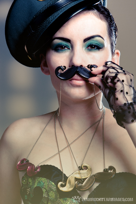 brooklyn, ny Oct 12, 2009 2009 Teamrockstarimages Aradia Ador in a New York Couture Mustache