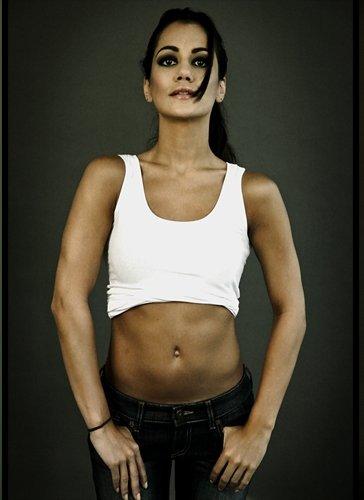 Female model photo shoot of KYM V by MandoNY in Village, NY, makeup by Christina Vega