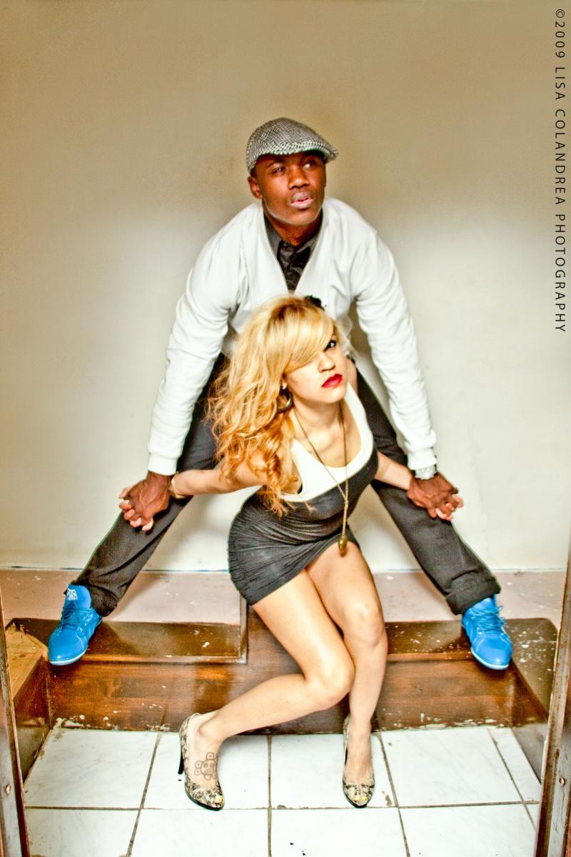 Male and Female model photo shoot of Jonn Earl Jonnz and Sasha Evette by Lisa  Colandrea in Mantra, Boston
