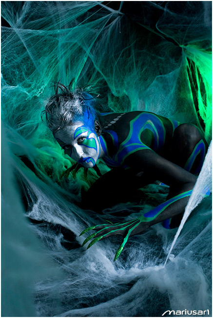 Oct 19, 2009 Photo & Bodypainting by MariusArt The Sweet Kiss of a Spider