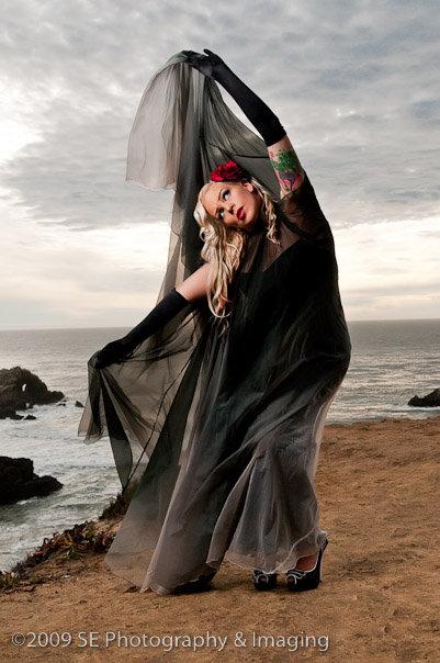 Female model photo shoot of Sparkly Devil by SE PhotoImaging in Lands End, San Francisco, CA