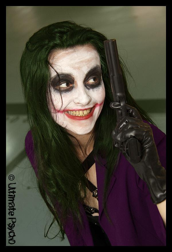 Aix de Provence, France Oct 22, 2009 Ultimate Psycho horror make up guns