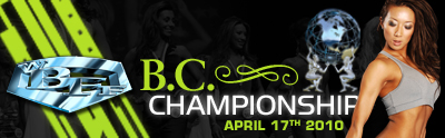 Toronto, ON Oct 24, 2009 World BodyBuilding and Fitness Federation WBFF 2010 BC Championships Banner