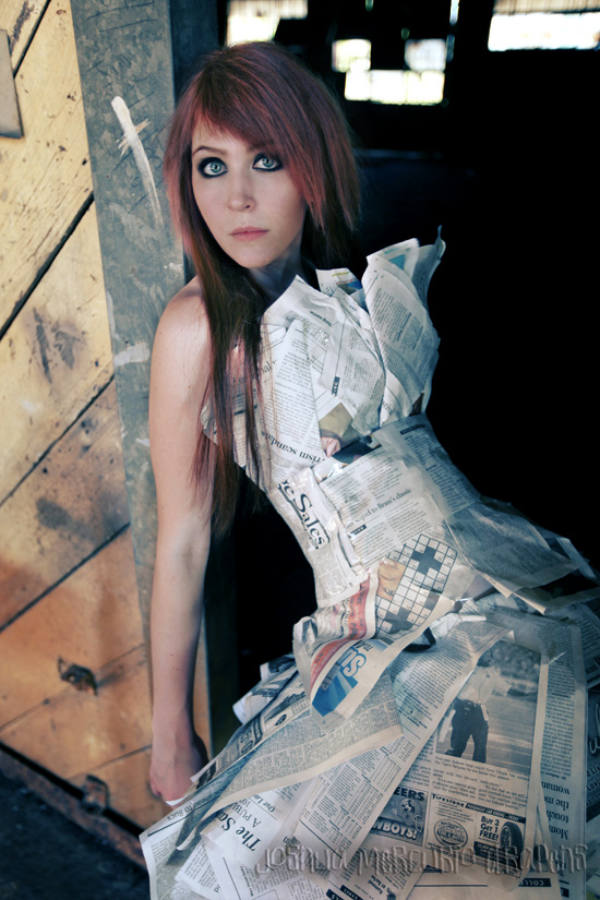 Oct 26, 2009 Newsprint Dress by ChelseaAnne