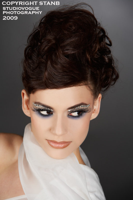 Female model photo shoot of L a r i s s a by StanB in studio Vogue