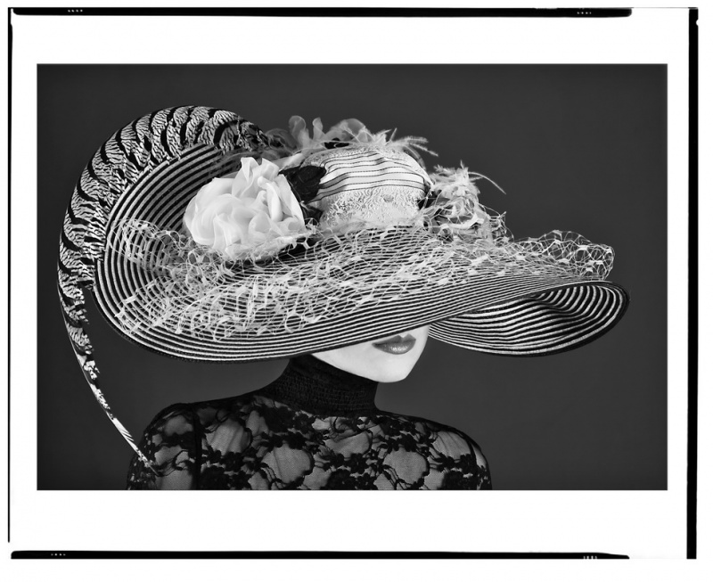 my studio Costa Mesa  Oct 29, 2009 phillip ritchie  Valerie in Fashion most amazing hat