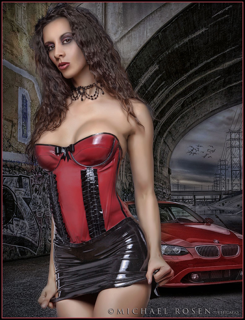 latex by westward bound  fyi my boobs are not that big  i am wearing a tight corset Nov 01, 2009 michael rosen, mua chrystina marie kerri taylor red latex corset