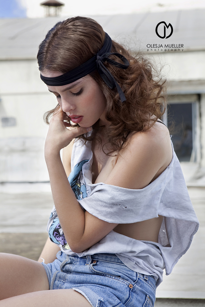 my LA studios rooftop Nov 06, 2009 Olesja Mueller Photography Lauren @ ELITE LA, makeup - Nikki Star, hair - Nicoletta