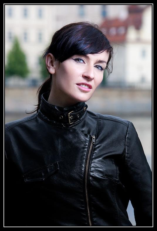Male and Female model photo shoot of Albedo Photography and Ajva in Prague - Kampa island