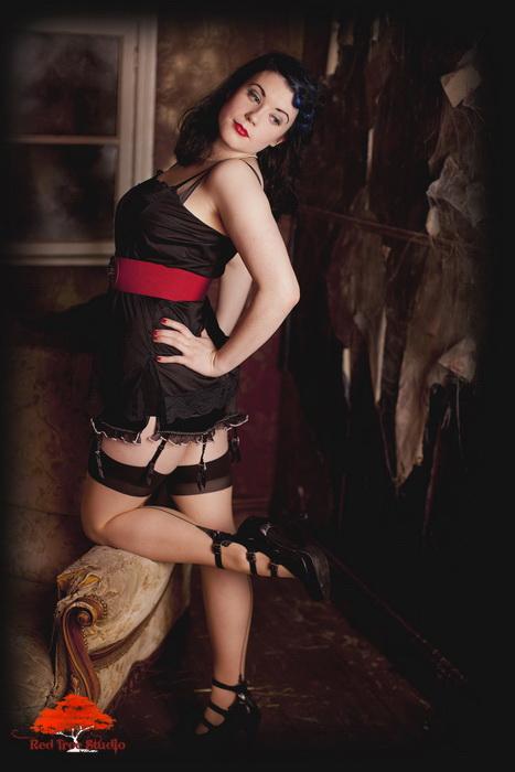 Female model photo shoot of Ms Blue Ruin by Carl Farmer in Red Tree Studios in Bray