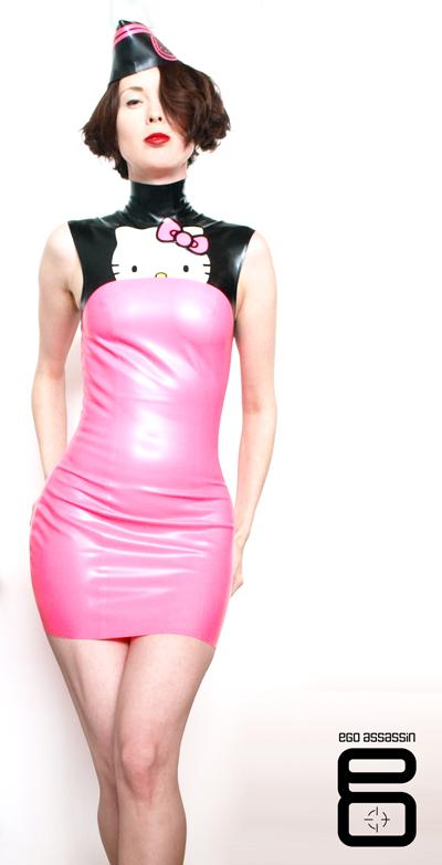 Toronto, ON Nov 17, 2009 Ego Assassin/Sanrio of-a-kind dress for Hello Kitty 35th anniversary fashion show