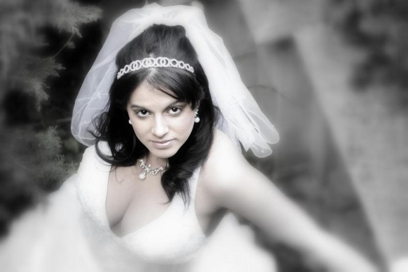 Female model photo shoot of VDH MakeupArtistryNhair by Tony Berry in North York studio, Ontario