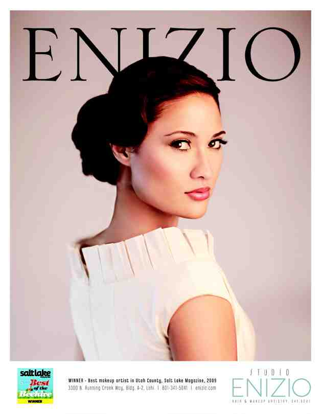 Nov 20, 2009 Retrospect Studios Enizio Salon Ad - Alysses Bridal Magazine November 2009