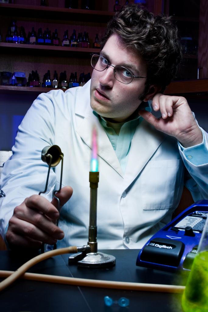 Male model photo shoot of Drew Dawson in Oakland University Laboratory Department