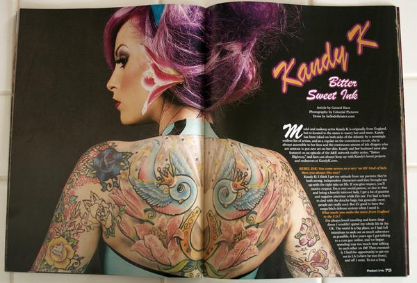 Nov 27, 2009 Kandy in the January 2010 issue of Rebel Ink Magazine!