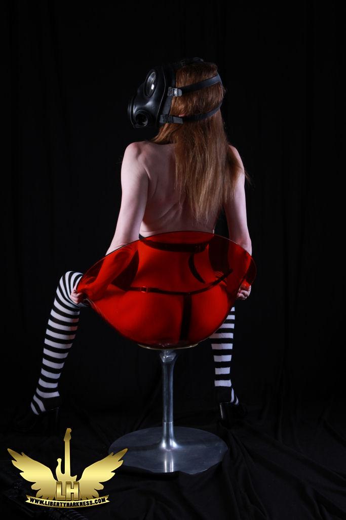 Female model photo shoot of TS Liberty in London