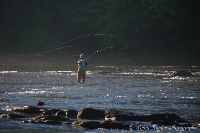 Georgia Nov 30, 2009 Wayne Hughes Fly Fisherman Casting in River