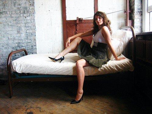 Female model photo shoot of Erin Gotwals Designs