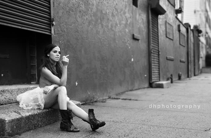 Hoboken NJ Dec 02, 2009 dh photography Ballerina in the SlumS