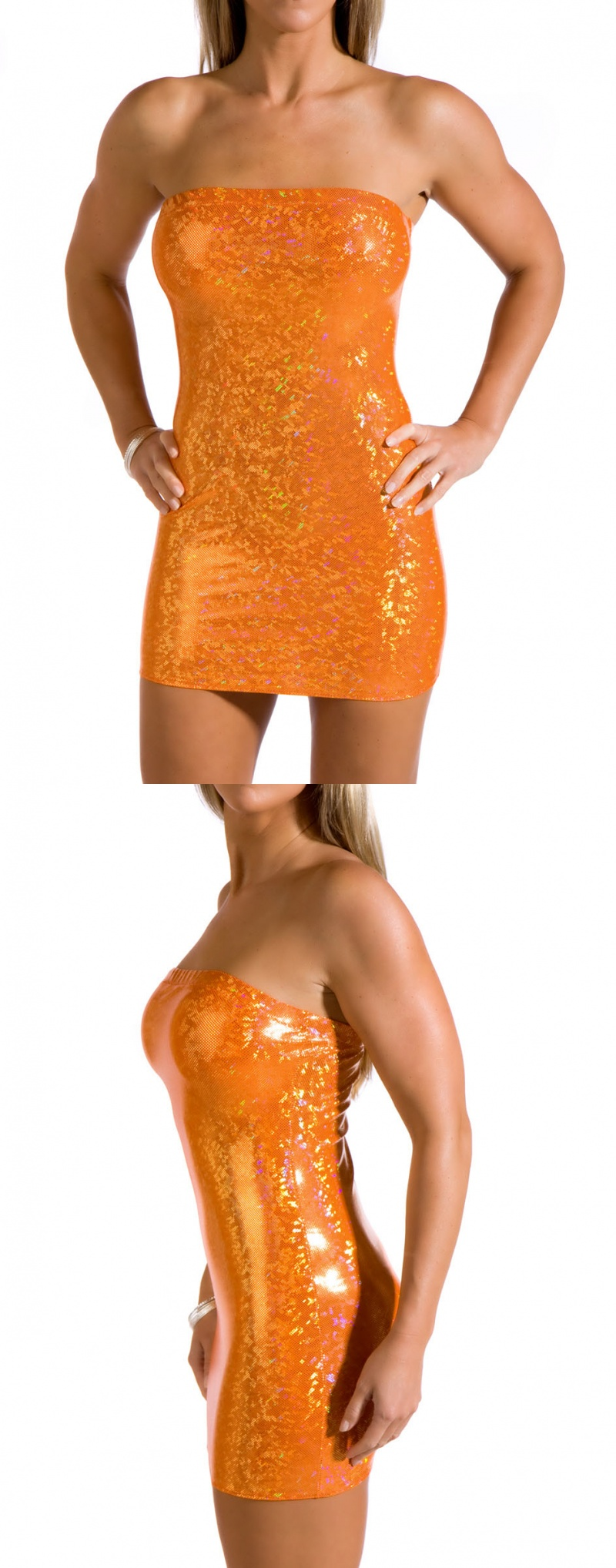 Dec 02, 2009 Orange holographic mini dress
