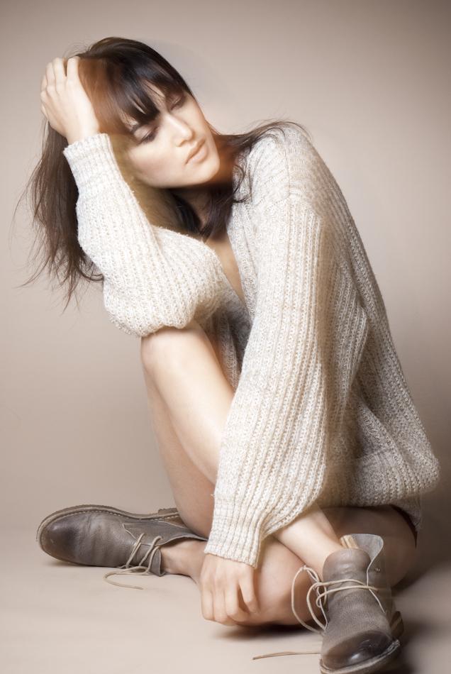 Female model photo shoot of Nik B by Tiffany May in her studio, makeup by Ines Aaliyah