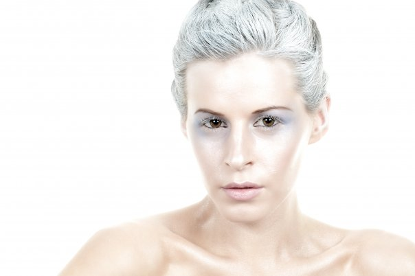 Female model photo shoot of Stone Cold Fox by Jen Grantham in Toronto, makeup by Elisa Doyon-Vachon