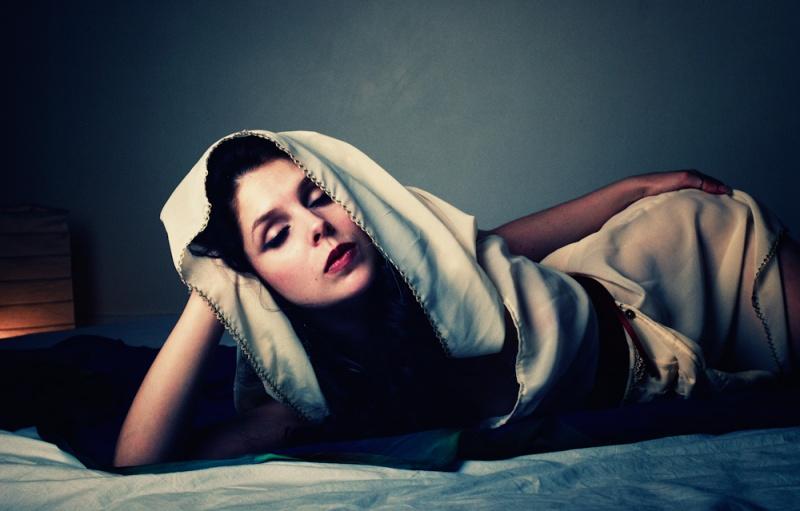Female model photo shoot of Natasha Lazarovic by ruzz, clothing designed by Temna Fialka