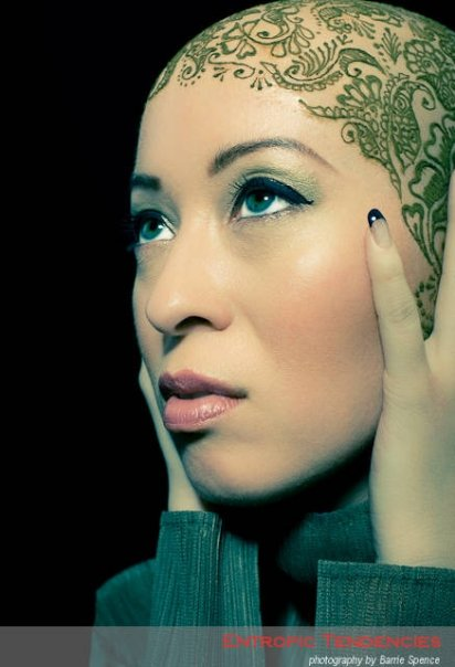 Female model photo shoot of kumi by Barrie Spence in edinburgh, UK, makeup by Taiyyibah Bashir