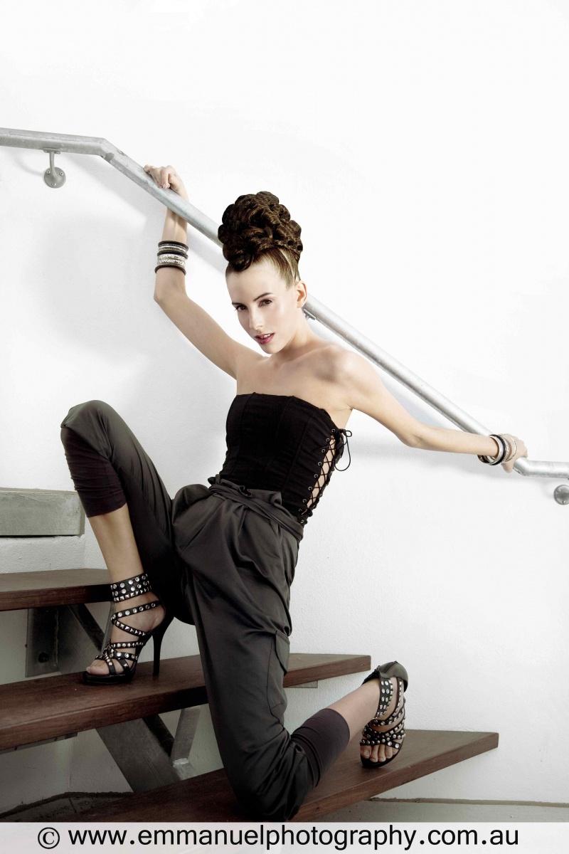 Female model photo shoot of ChelseaRose by Emmanuel Photography, hair styled by Aleesha Darke