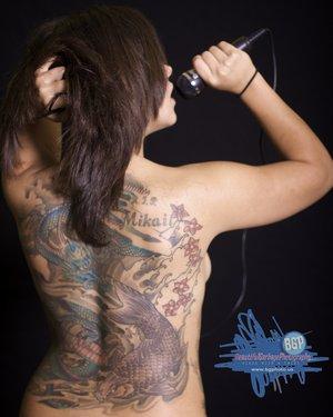Female model photo shoot of Beautiful Garbage Photo
