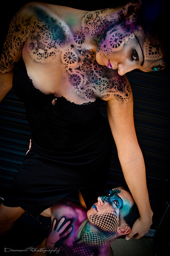 Male model photo shoot of chaotic cosmetics in downtown orlando