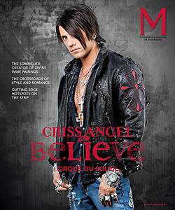 Las Vegas secret location  Dec 26, 2009 MGM Grand lifesytle magazine M 2009 jacket by  West Coast Leather West Coast  Leather custom rocker for Chris Angel for the cover of the MGM Grand lifesytle magazine M