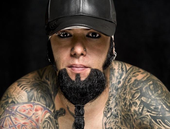 Dec 27, 2009 Chris Noel, Long Beard, Beard, Longest Beard, WWE, Goatee, Tattoos, Goth, Evil,