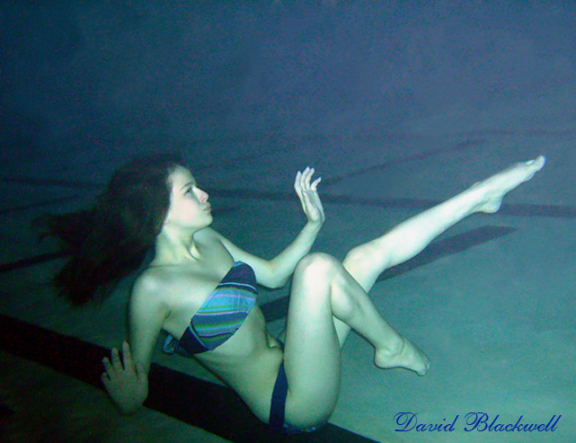 Underwater at Night Dec 27, 2009 Underwater Pose Choreographed by David Blackwell aka Mer-Man Legs Posed and Feet & Toes Pointed